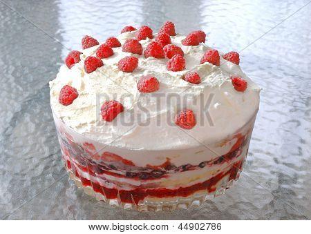 Raspberry Trifle With Fresh Raspberries