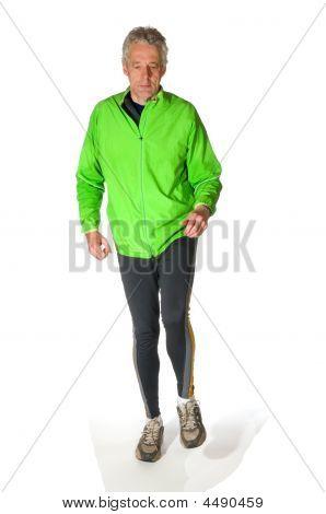 Running Elderly Man