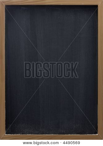 Blank Blackboard With Vertical Eraser Smudges