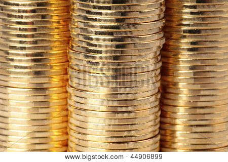 Many gold coins. Loose Change.