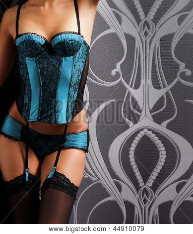 Body of beautiful and sexy woman in erotic lingerie