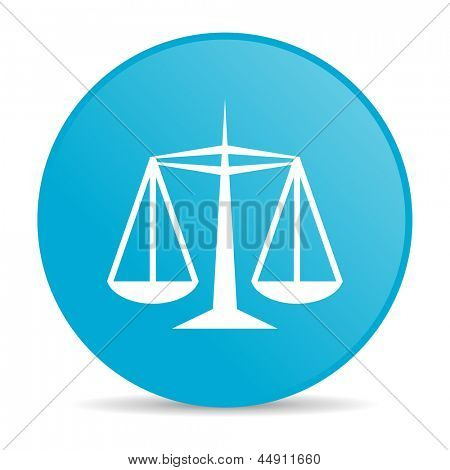 justice blue circle web glossy icon