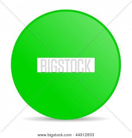 abzüglich grüner Kreis Web glossy icon