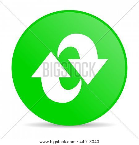 rotate green circle web glossy icon