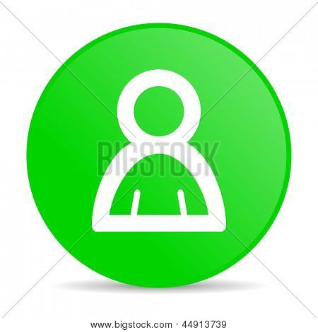account green circle web glossy icon