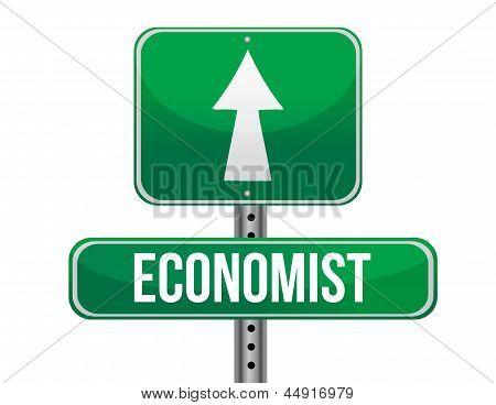 Economista Road Sign ilustração Design
