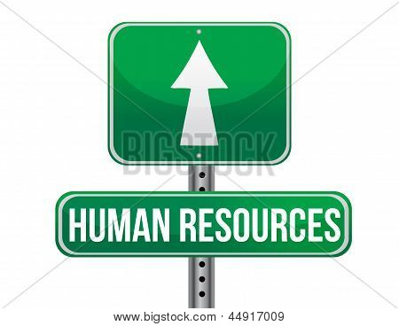 Human Resources Road Sign Illustration