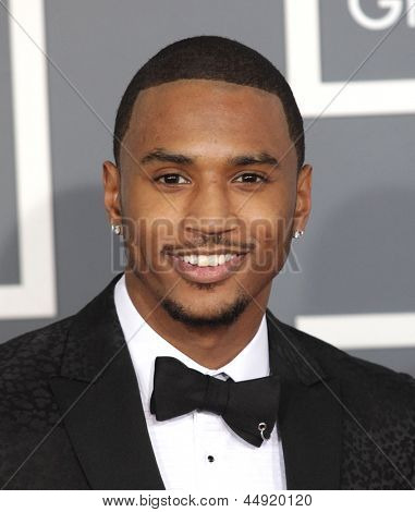 LOS ANGELES - FEB 10:  Trey Songz arrives to the Grammy Awards 2013  on February 10, 2013 in Los Angeles, CA.