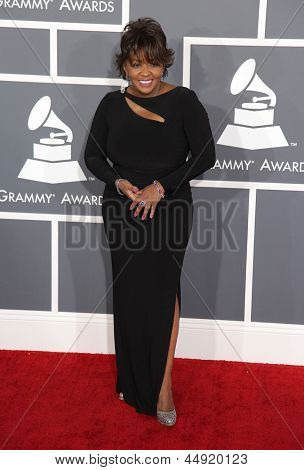 LOS ANGELES - FEB 10:  Anita Baker arrives to the Grammy Awards 2013  on February 10, 2013 in Los Angeles, CA.