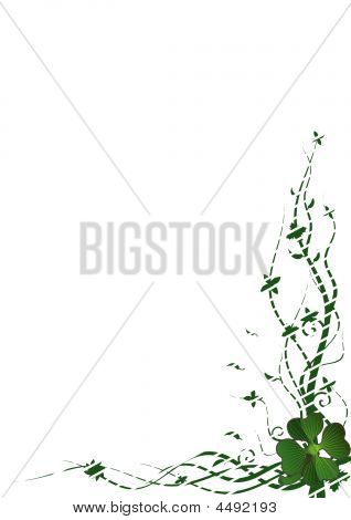 Vector Frame With Clover