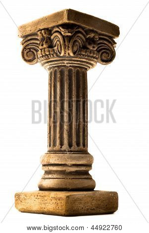 Column on white background