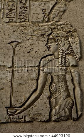 Egyptian woman engraved image
