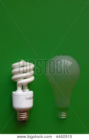 Compact Fluorescent Light (cfl) With Fading Incandescent Bulb