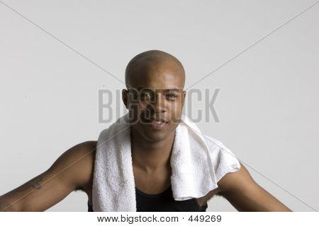 Sportsman sonriente