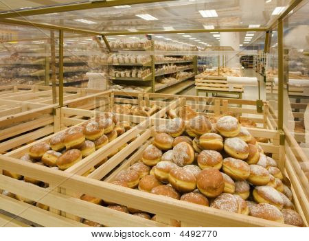 Doughnuts In A Grocery Store
