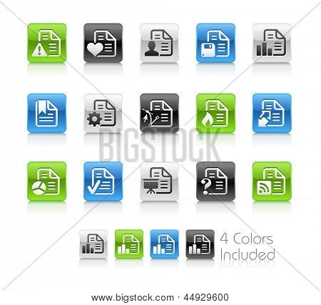 Documents Icons - 2 / The file Includes 4 color versions in different layers.