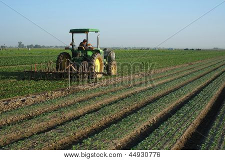 Spraying a Farm Field