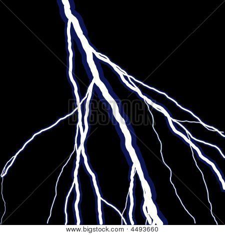 Lightning Over Black