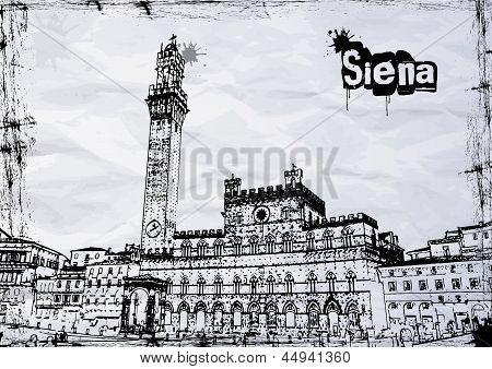 Ayuntamiento de Siena en la Piazza del Campo