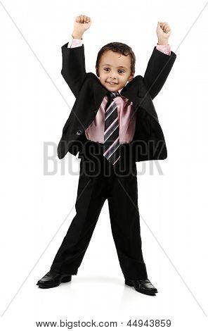 Retrato de Arabian Little Boy, engraçado