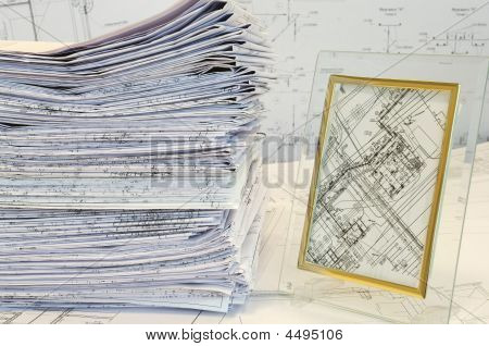 Single-sheet Stationery Of Design And Project Drawings. My Work