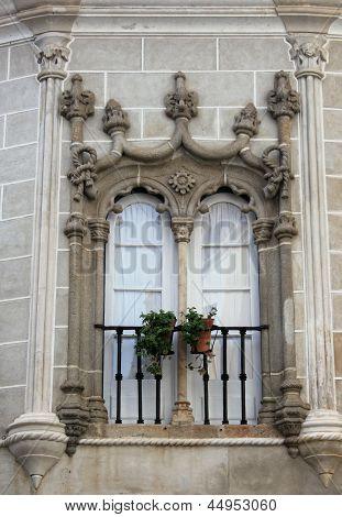 Decorative Window In Evora, Portugal