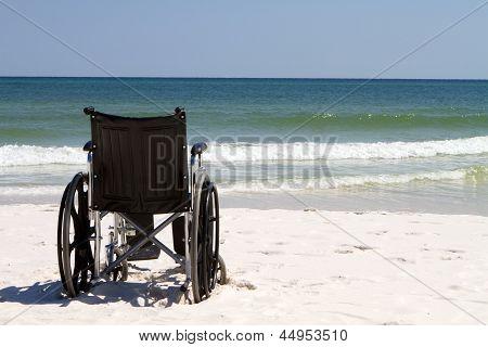 Wheelchair At Beach