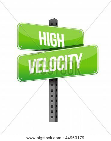 High Velocity Road Sign Illustration Design