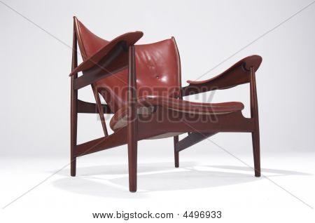 Modern Design Finn Juhl  Chieftain Chair Isolated On White