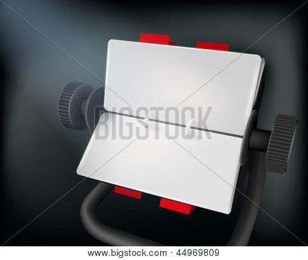 Card index. Vector illustration.