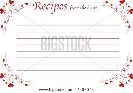 Recipe Card-recipes From The Heart