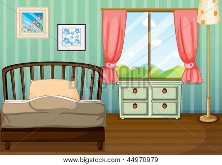 Ilustración de una habitación vacía