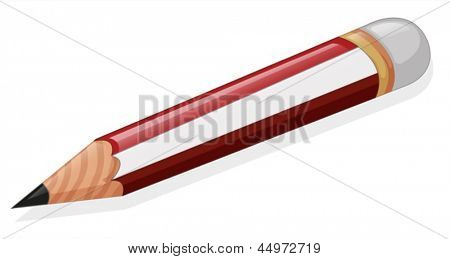 Illustration of a pencil on a white background