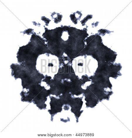 Una imagen de una prueba de la mancha de tinta