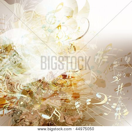Art Grunge Background On Music Theme
