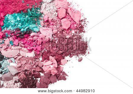 multicoloridas sombras esmagadas isoladas no fundo branco
