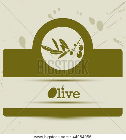 Stylized Olive Label
