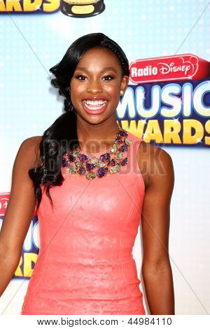 LOS ANGELES - APR 27:  Coco Jones arrives at the Radio Disney Music Awards 2013 at the Nokia Theater on April 27, 2013 in Los Angeles, CA