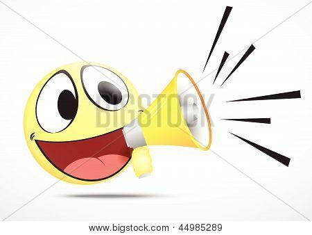 Emoticon with speaker