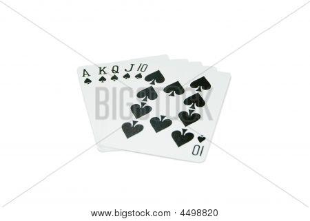 Playing Cards - Royal Flush - Spades