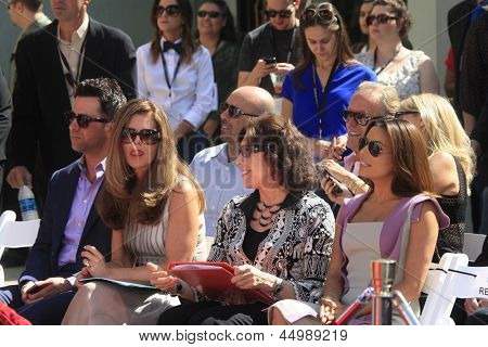 LOS ANGELES - APR 27:  Troy Garity, Maria Shriver, Lily Tomlin and Eva Longoria at the Jane Fonda Hand and FootPrint Ceremony at the Chinese Theater on April 27, 2013 in Los Angeles, CA