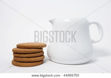 Lechera y galletas