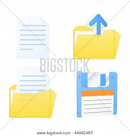 Set Of Document Icons. Vector Illustration