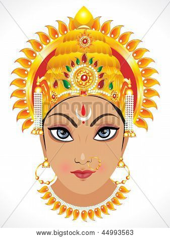 Abstract Goddess Durga Face