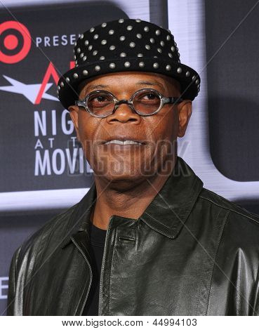 LOS ANGELES - APR 24:  Samuel L. Jackson arrives to the AFI Night At The Movies 2013  on April 24, 2013 in Hollywood, CA