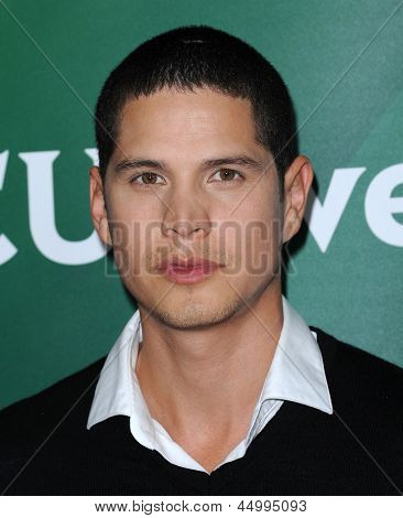 LOS ANGELES - JAN 06:  JD Pardo arrives to the NBC All Star Winter TCA 2013  on January 06, 2013 in Pasadena, CA