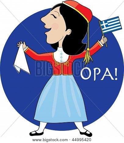 Greek Lady Dancing