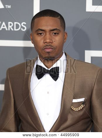 LOS ANGELES - FEB 10:  Nas arrives to the Grammy Awards 2013  on February 10, 2013 in Los Angeles, CA.