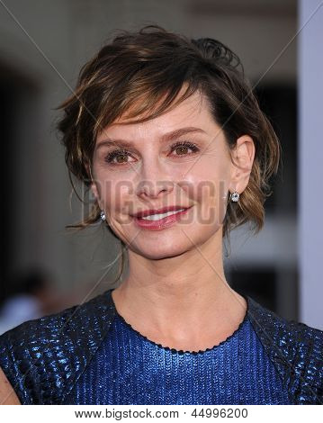 LOS ANGELES - APR 09:  Calista Flockhart arrives to the '42' Hollywood Premiere  on April 09, 2013 in Hollywood, CA