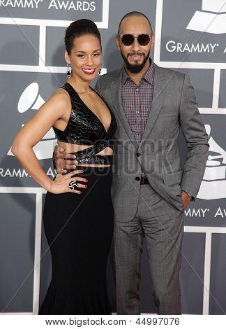 LOS ANGELES - FEB 10:  Alicia Keys & Swizz Beatz arrives to the Grammy Awards 2013  on February 10, 2013 in Los Angeles, CA.